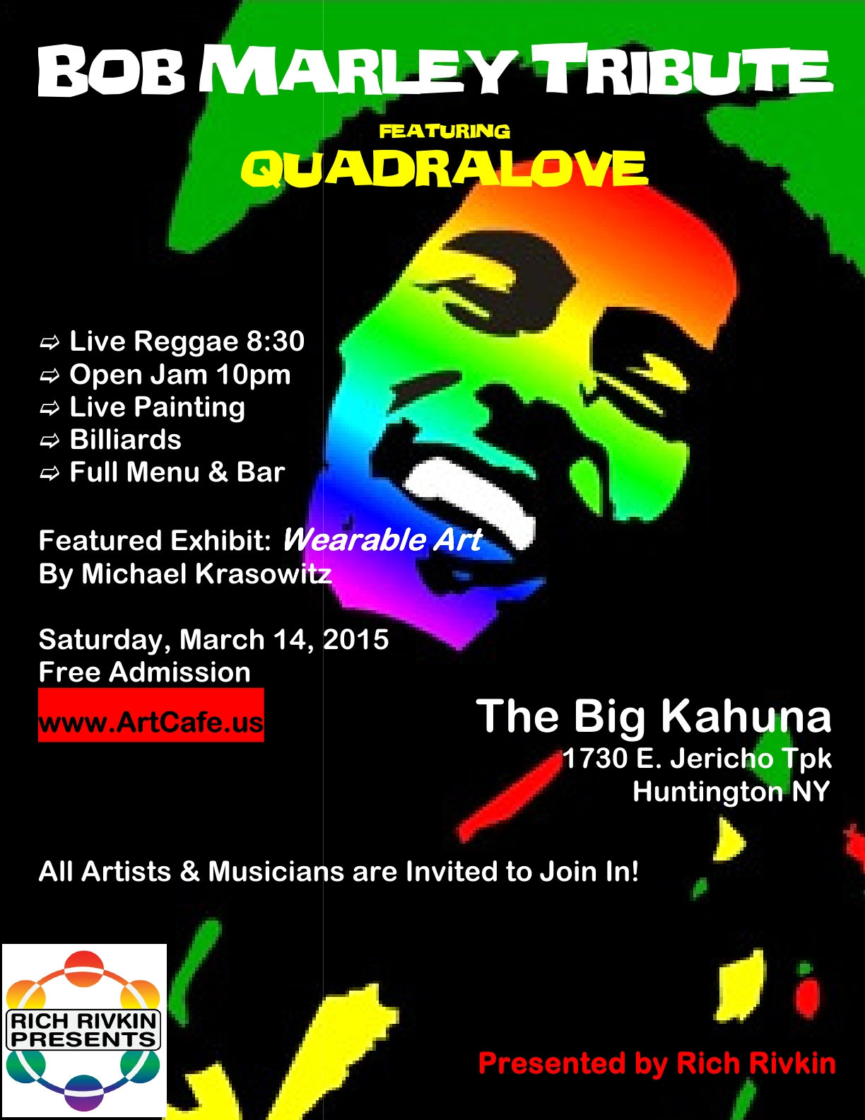 Bob Marley flyer 3 march 2015
